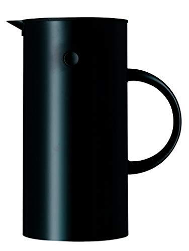 Stelton EM 77 Isolierkanne, Kaffeekanne aus Kunststoff in schwarz, 0.5 Liter
