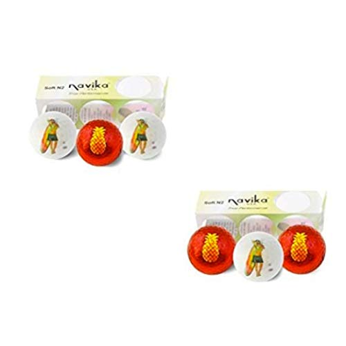 Best Bargain Navika Golf Balls- Hula Girl and Pineapple Imprint (2 Pack) Combo