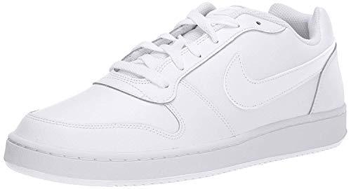 Nike Men's Ebernon Low Basketball Shoe, White/White, 9.5 Regular US
