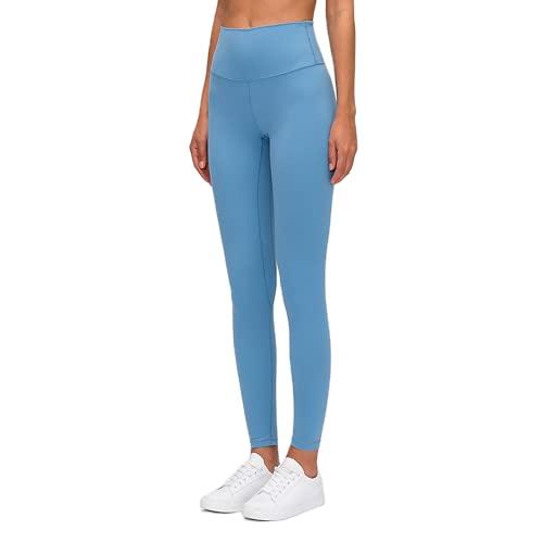 QTJY Pantalones de Yoga Ajustados con Cintura Alta para Mujer, Pantalones Sexis y Suaves para Correr, Pantalones de Entrenamiento para Celulitis, Push-ups, C S