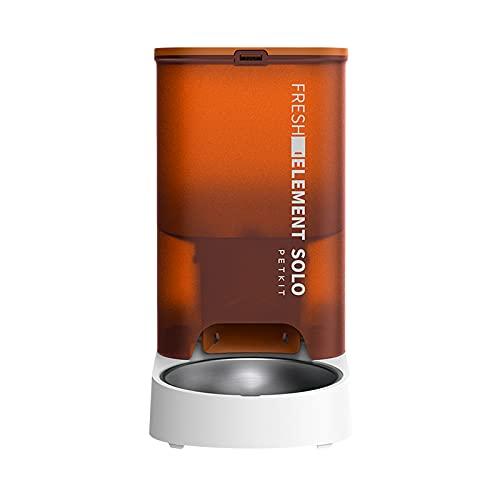PETKIT Automatischer Katzenfutterautomat, automatischer Futterspender mit Portionskontrolle, kompatibel mit gefriergetrocknetem Tierfutter, Design mit doppelter Energieversorgung.(Orange)