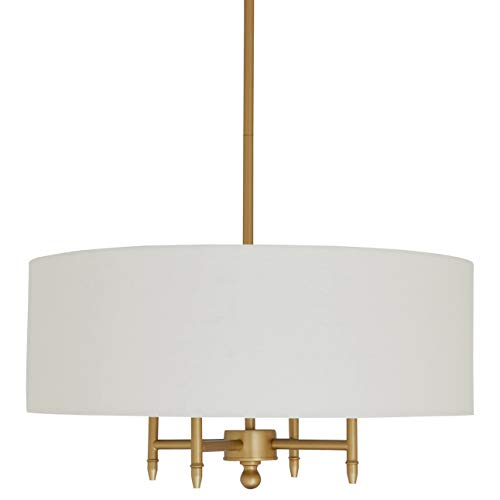 Amazon Brand – Stone & Beam Contemporary Pendant Chandelier with White Shade - 20 x 20 x 42 Inches...