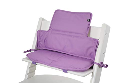 Tinydo® Hochstuhl-Sitzkissen Violett - optimales Zubehör für Stokke Tripp Trapp - Sitzverkleinerer-Kissen mit XXL Dämpfung ohne Verrutschen (Violett)