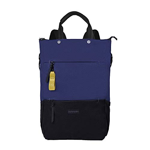 Sherpani Camden Nylon Convertible Rucksack Tote, Tote Bag Crossbody Tasche für Frauen, RFID Schutz, 15 Zoll Laptop Sleeve (Atlantic)