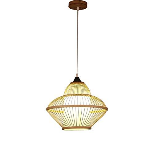 ZAKRLYB Nuevo estilo chino tejida a mano de la rota de mimbre de bambú Lámparas personalidad creativa del restaurante luz colgante japonesa Salón Balcón Salón de té barra de la lámpara de la lámpara p
