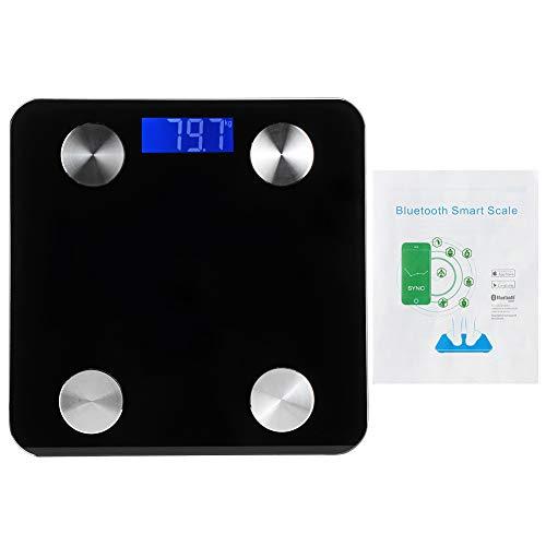 WEILafudong Báscula electrónica de peso de 3 kg‑180 kg, báscula de peso electrónica portátil para uso en el hogar, color negro