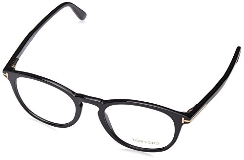 Tom Ford FT5401 Occhiali da Sole, (Nero Lucido), 49.0 Unisex-Adulto