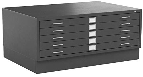 Safco Products Flat File Closed Base for 5-Drawer 4996BLR and 10 Drawer 4986BL Flat Files, sold separately, Black