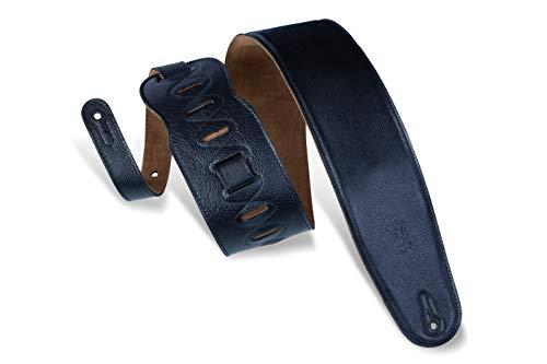 "Levy's Leathers M4GF-BLK 3.5"" Garment Leather Bass Guitar Strap , Black"