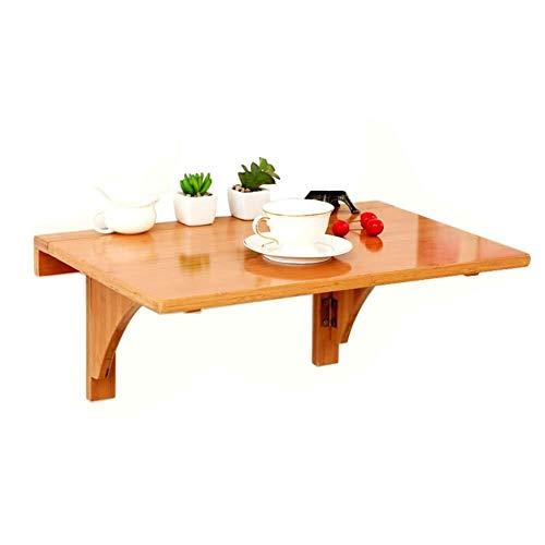Aan de muur gemonteerde klaptafel, tafel, wandtafel, zwemframe, bamboe, geschikt voor camping, buiten, picknick, barbecuefeest.
