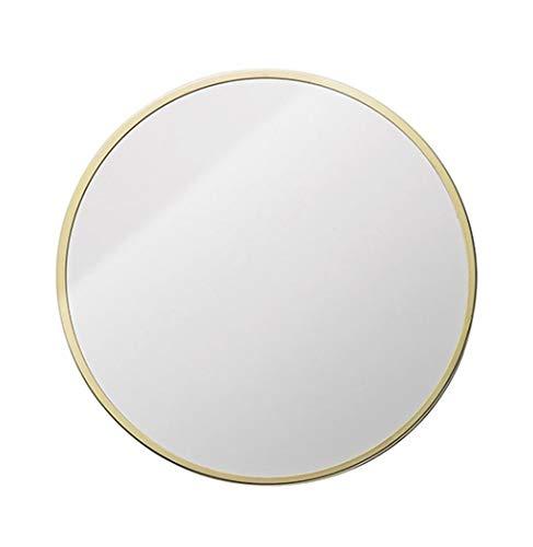 Miroir Accrochant Fixé Au Mur De Vanité De Miroir De Miroir De Salle De Bains De Miroir De Mur De Cadre En Métal Rond Et De Rasage (Couleur : Or, taille : Diameter 30cm)