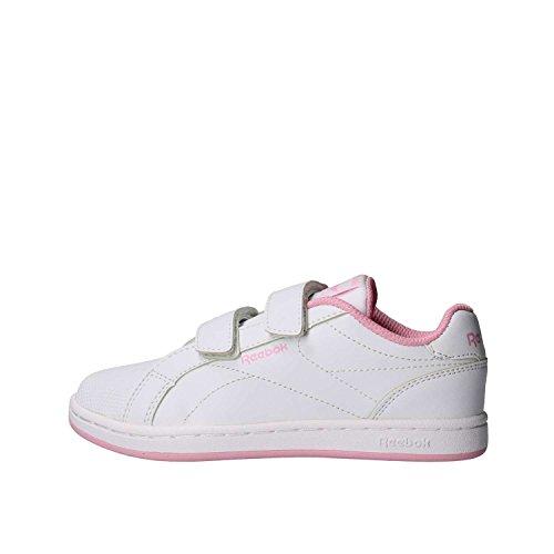 Reebok Royal Comp CLN 2V, Zapatillas de Tenis para Niñas, Blanco (Blanco/(White/Charming Pink) 000), 29 EU