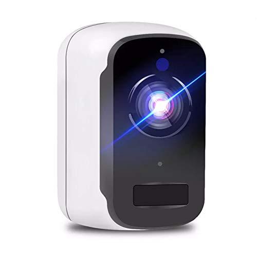 HEN'GMF Cámara WiFi 3MP con Batería Cámara de Seguridad Inalámbrica para Exteriores Alarma PIR Tarjeta SD Grabación CCTV Videovigilancia.