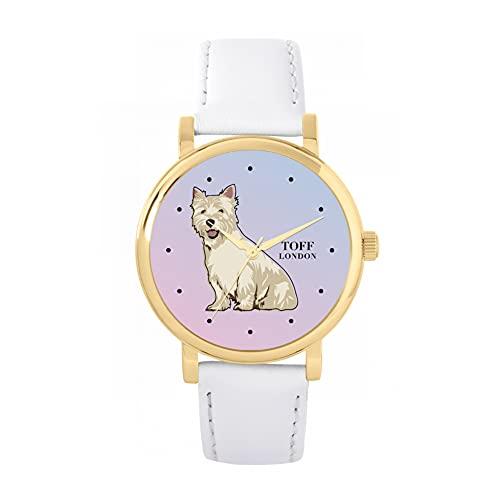 Toff London Reloj para Perros West Highland Terrier