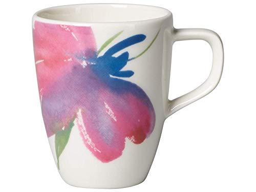 Villeroy & Boch Artesano Flower Art Tasse à expresso/moka, 100 ml, Porcelaine Premium, Blanc/Multicolore