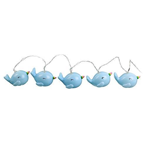HELLO KIDS LA11013 Guirlande Baleine X10 Leds, Plastique, Bleu