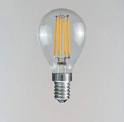 Yjmgrowing Vintage 3W LED-filament met LED-filament voor hanglamp, plafondlamp, afdekking van glas, transparant, E12/E14, 1 verpakking (45 x 75 mm)
