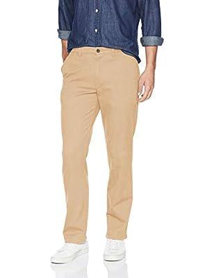 Amazon Essentials Men's Straight-Fit Casual Stretch Khaki, Dark Khaki, 40W x 32L from Amazon Essentials