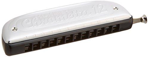 Hohner 255C Chrometta 12 Chromatische Mundharmonika für Anfänger, C-Dur