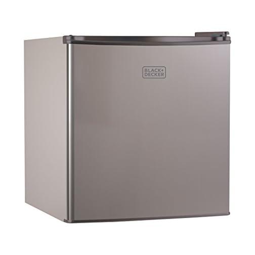 BLACK+DECKER BCRK17B Compact Refrigerator Energy Star Single Door Mini Fridge with Freezer, 1.7 Cubic Feet, Black 3