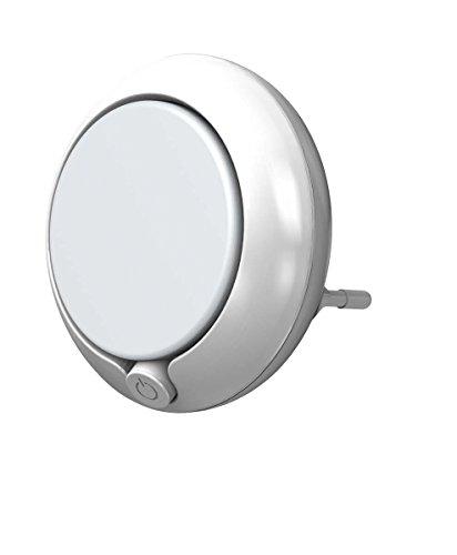 Osram Lunetta Round Luce Notturna LED con Sensore di Luminosità 0.3 W, Bianco