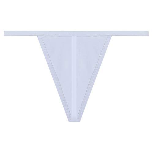 ZZNVS Simple algodón Thong Thong Ropa Interior sin Fisuras Ropa Interior Sexy Ropa Interior para Mujer Tanga de Cintura Baja Tentación Sexy (Color : White, Size : Large)