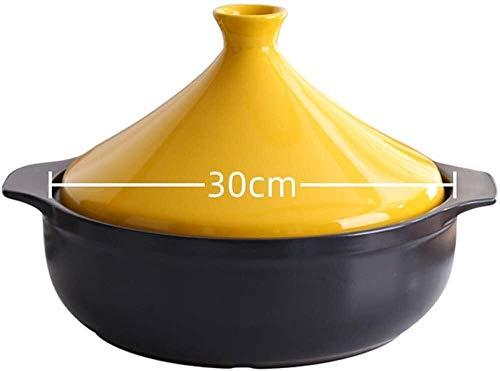 Olla taji Pote de tagina esmaltado   30 cm Cacerola de utensilios de cocina antiadherente de 30 cm   olla Cocina lenta sin plomo Cocina de alimentos saludables   Adecuado para su uso con hornos, placa