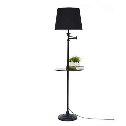 Lampes de chevet Lampadaire Table Basse Plateau Salon Chambre Chambre Chevet Lampadaire Lampadaire Vertical (Color : Black, Size : 30 * 162cm)