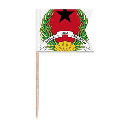 Guinea Bissau Nationalemblem Zahnstocher Flaggen Markierung für Party Kuchen Lebensmittel Käseplatte
