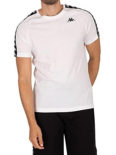 Kappa T-Shirt Cotone 303UV10 White - Black Size:L