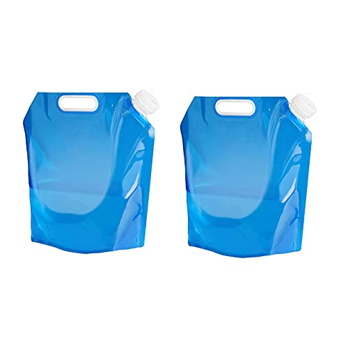 MORN Bidones para Agua Plegable De 5L / 10L, Bolsa de Agua Plegable para Exteriores, Bolsas de Agua Potable para Acampar Plegables, para Deportes, Acampar, Senderismo, Picnic, Barbacoa