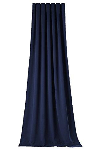 novum fix Gardine, Vorhang für Verdunkelung mit Thermoeffekt, Universal-Schienenband (Kräuselband), blickdicht und lichtundurchlässig, 140x175 cm oder 140x245 cm(BxH), Sopran blau (140 x 245 cm)