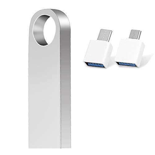 256GB Chivetta USB 3.0 , Pendrive USB Memoria Stick Flash Drive Chiavette USB con Connettori gratuiti per PC / Android / Tipo C…