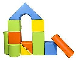 Completo: CASTELLO e composto da undici mattoni (blocchi) multicolori in schiuma. Mattoni in schiuma sono perfetti per asili nido, per scuole materne, per sale giochi. Tutti gli elementi sono sicuri e morbidi, possono essere usati per creare i propri...