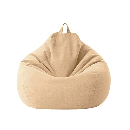 Bean Bag Chair Sofa Covers Cotton and Linen Toy Storage Bag Large Size Lazy Chair Cover Suitable for Adults and Children 100 * 120cm (Does Not Contain Filler)