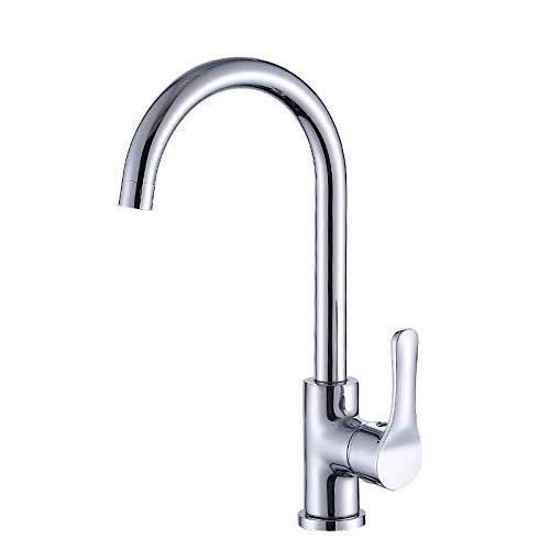 MBYW Grifo de Cocina Diseño Clásico y Profesional Agua Cuerpo de cobre grifo del fregadero de la cocina grifo del agua caliente y fría mezcla del grifo del fregadero giratorio