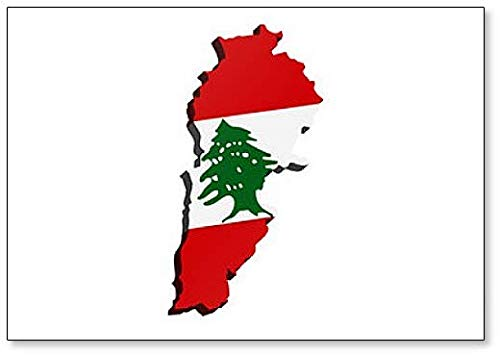 Kühlschrankmagnet Libanon mit Flagge