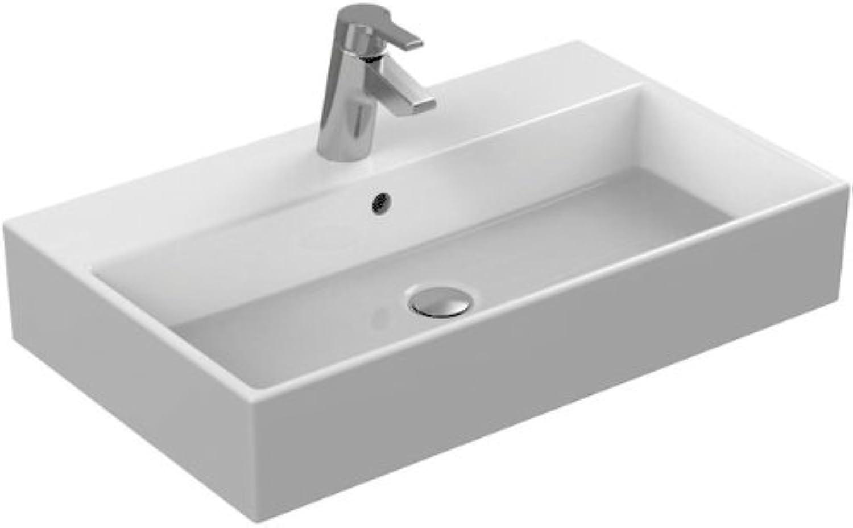 Ideal Standard Waschtisch Strada K078201, wei, B  710, T  420, 1 Hahnloch mittig durchgestochen, Hahnlcher links und rechts vorgestochen