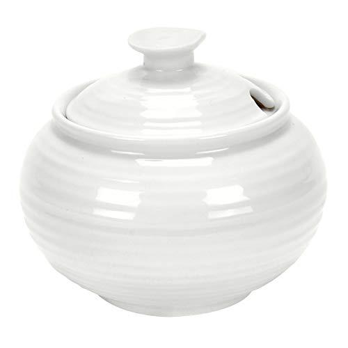 Sophie Conran for Portmeirion Covered Sugar, Porcelain, White, 5 x 5 x 11 cm, CPW76829-X