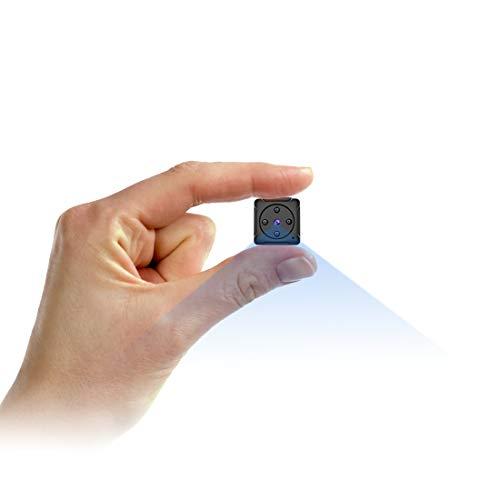 Mini Telecamera Spia Nascosta,NIYPS Full HD 1080P Portatile Micro Spy Cam Sorveglianza con Visione Notturna,Sensore di Movimento y Batteria,Senza Fili Piccola Microcamere Spia per Esterno/Interno