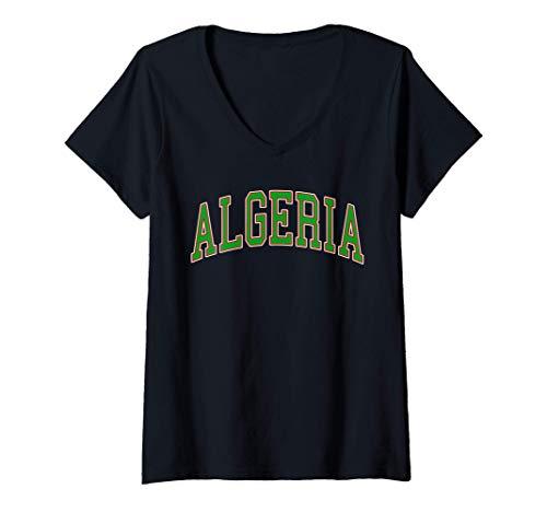 Donna Algeria Sport And Sightseeing Maglietta con Collo a V