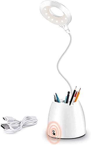 AMANKA Lámpara Escritorio LED, Luz Lectura Recargable USB con Control Táctil, Flexo...