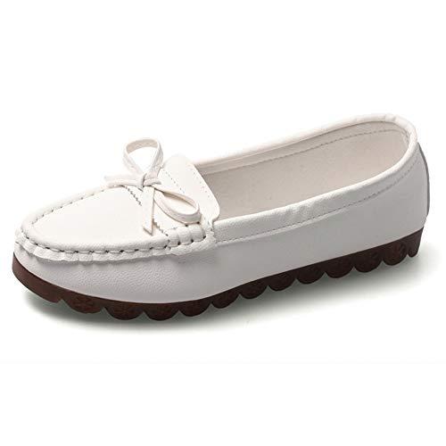 Mocasines Mujer Zapatos náuticos Cuero Mocasines