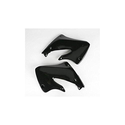 UFO HO03601001 Replacement Plastic (FOR HONDA RAD CVR CR250 97-99 BLACK)