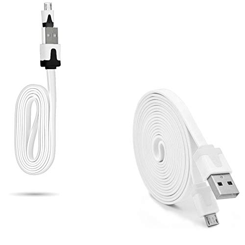 Pak oplader voor Samsung Galaxy S5 Smartphone Micro USB-kabel 3M 1 m kabel Noodle 1 m Android (wit)