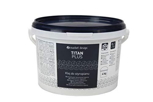 4 kg | Styroporkleber | Acrylkleber | frostfest | Deckenplatten, Leisten, Rosetten Kleber | Titan Plus