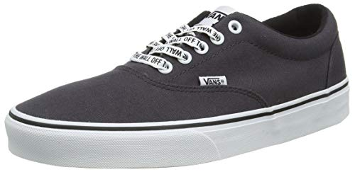 Vans Herren Doheny Sneaker, Grau ((Checker Lace) Asphalt/White W72), 48 EU
