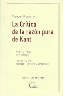 La critica de la razón pura de Kant