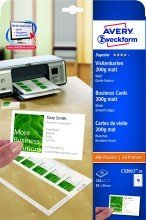 Avery Zweckform© C32011-25 Superior Visitenkarten, 85 x 54 mm, einseitig beschichtet - matt, 25 Blatt/250 Stck