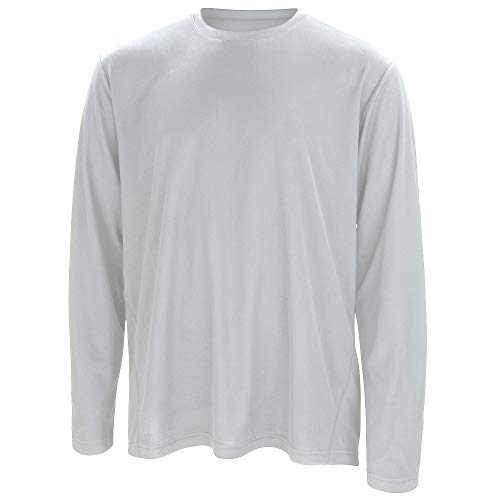 Spiro - T-shirt sport à manches longues - Homme (2XL) (Blanc)
